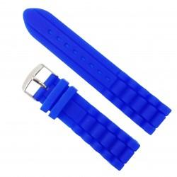 Curea Ceas Silicon Albastru 24mm