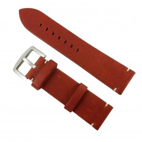 Curea de ceas din piele naturală maro - 24mm WZ2877