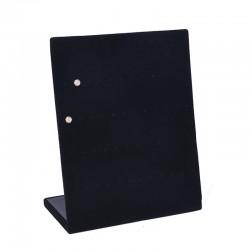 Suport expunere cercei catifea gri/negru 30 perechi