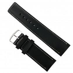 Cure ade ceas din piele HandMade Neagra - 28mm WZ2918