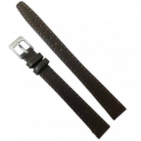 Curea de ceas din piele naturala neagra XXL - 12mm - C2939