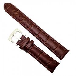 Curea ceas maro din piele naturala marime 20mm 24mm XL