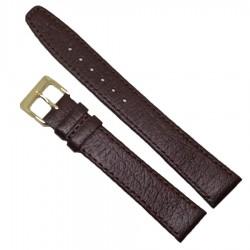 Curea de ceas din piele naturala maro XL, 12mm, 18mm - C2978