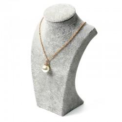 Bust expunere bijuterii - Catifea Gri BU2980
