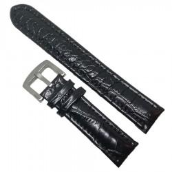 Curea neagră din piele XL 20mm 22mm 24mm 26mm WZ997