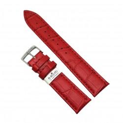 Curea de ceas din piele naturala rosie - 18mm, 20mm, 22mm - C3015