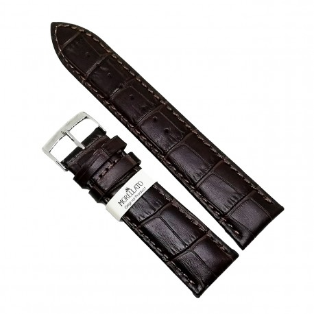 Curea de ceas din piele naturala maro inchis Morellato - 22mm, 26mm - C3017