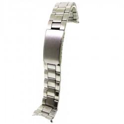 Bratara Ceas Argintie cu CAPETE CURBATE 20mm / 24mm WZ1316