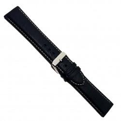 Curea pentru ceas din piele naturala neagra XL 20mm 22mm - 7K25
