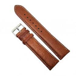 Curea de ceas din piele naturala maro deschis XL - 22mm  - C3028