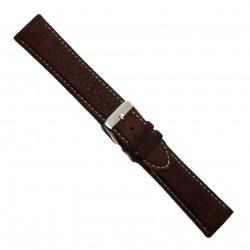 Curea de ceas din piele naturala maro inchis XL 20mm 22mm - 7K25