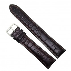 Curea de ceas din piele naturala Maro XL - 18mm /  20mm / 22mm / 24mm - C3047