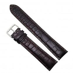 Curea de ceas din piele naturala Maro XL - 20mm - C3047
