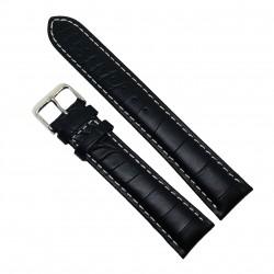 Curea de ceas din piele naturala Neagra XL - 20mm - C3044