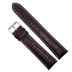 Curea de ceas din piele naturala Maro XL - 20mm - C3046