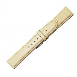 Curea pentru ceas din piele naturala Bej - 20 mm - C3048