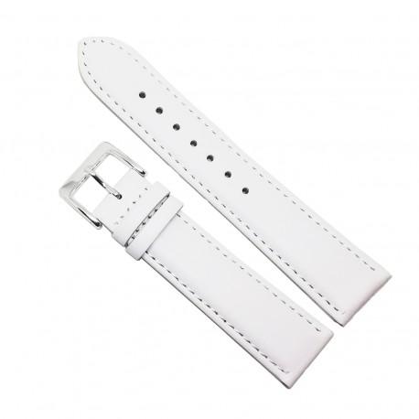 Curea pentru ceas din piele naturala Alba - 20mm - C3051