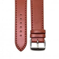 Curea de ceas din piele naturala Maro - 22mm - C3056