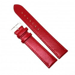 Curea de ceas din piele naturala anti-alergica Rosie XL - 20mm - C3062