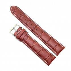 Curea de ceas din piele naturala anti-alergica Maro XL - 20mm - C3067