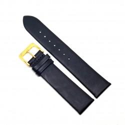 Curea de ceas din piele naturala Neagra - 20mm - 6L1