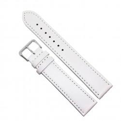 Curea de ceas din piele naturala anti-alergica Alba XL - 20mm - A-4XL9