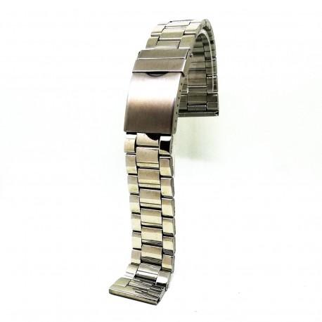 Bratara de ceas din otel inoxidabil Argintie - 22mm