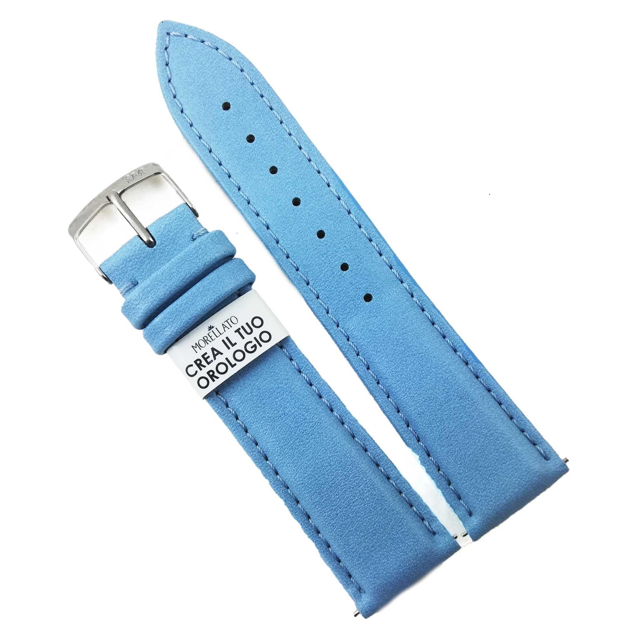 Curea De Ceas Morellato Trend Grana Soft Nappa - Culoare Bleu - 16mm 18mm 20mm - A01d5050c47068cr