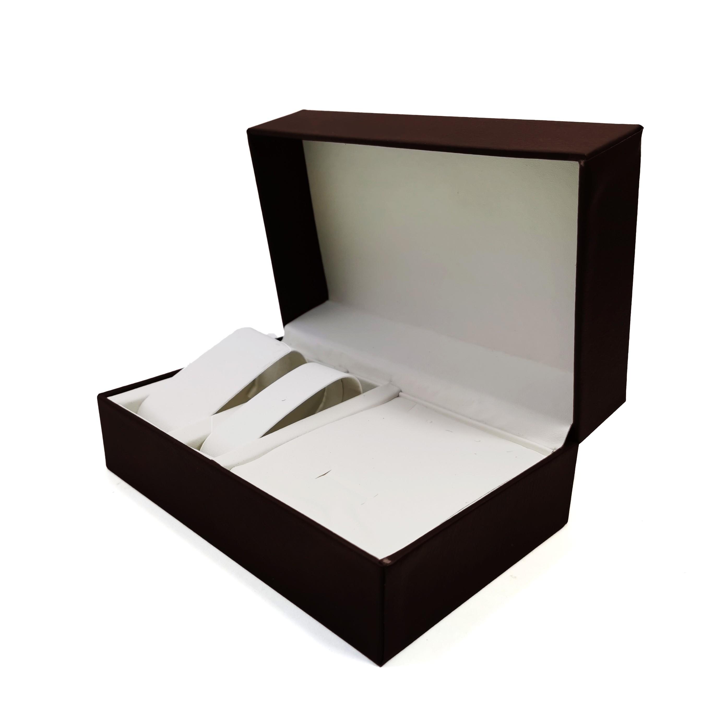 Cutie pentru Ceasuri si Bijuterii - Neagra / Maro - CF-PU108