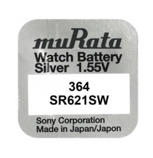 Pachet 10 Baterii Pentru Ceas - Murata Sr621sw - 364