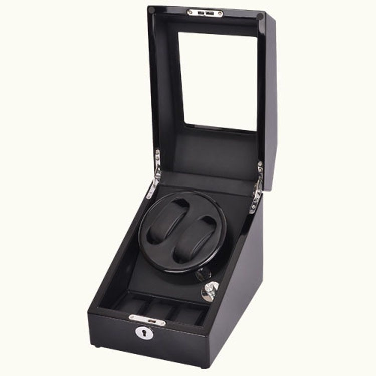Watch Winder - 2 + 3 Negru Dispozitiv Pentru Intoarcere Ceasuri Ww23b