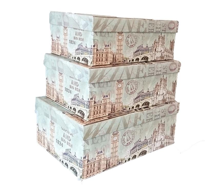 Set De 3 Cutii pentru Depozitarea Bijuteriilor Big Ben thumbnail