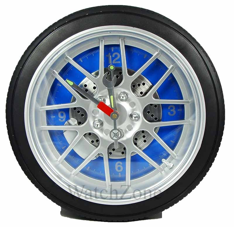 Ceas de perete anvelopa WHEEL CLOCK Blue / Red / Black WZ1539 thumbnail