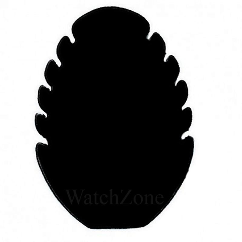 Suport prezentare coliere tip frunza gri / negru thumbnail
