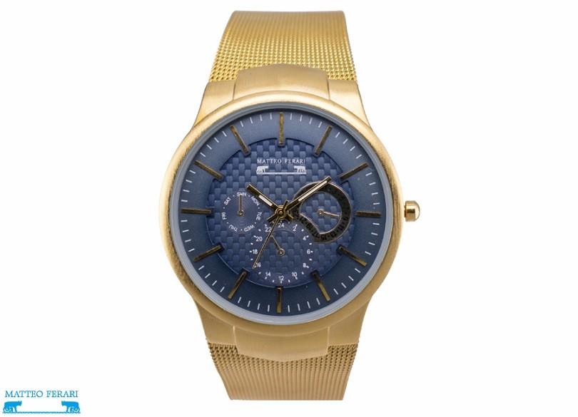 Ceas Barbatesc Matteo Ferari Gold/Blue Elegant II thumbnail
