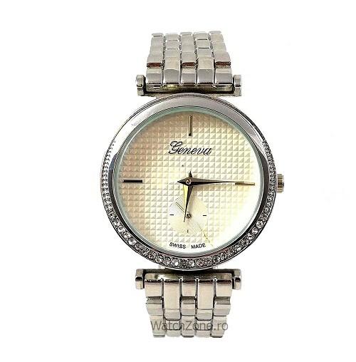 Ceas Dama Argintiu Geneva Fashion Wz015