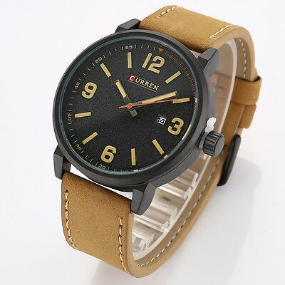 Ceas Barbatesc Curren M8218 Brown Frosted